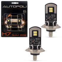 Par Lâmpadas LED H7 6500K 12V 24V 20W 2600LM Efeito Xênon Carro Moto e Caminhão Autopoli -