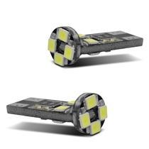 Par Lâmpadas LED Pingo T10 com Canbus 8 LEDs 6000K 12V 4W Luz Branca Farol Meia Luz Farolete - Prime