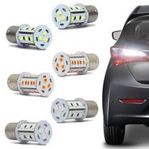 Par Lâmpadas LED Torre BA15s 1 Polo Trava Reta 18 LEDs 12V 5W Luz de Seta Ré e Lanterna Traseira - Autopoli