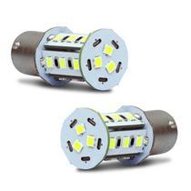 Par Lâmpadas LED Torre BA15s 1 Polo Trava Reta 18 LEDs 12V 5W Tonalidade Branca para Luz de Ré - Autopoli