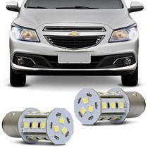 Par Lâmpadas LED Torre BAY15d 2 Polos 18 LEDs 12V 5W Branca para Luz de Seta - Autopoli