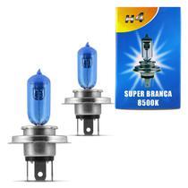 Par Lâmpadas Super Branca H4 8500K 35W 12V Efeito Xênon Aplicação Farol Motos - Kit iluminação