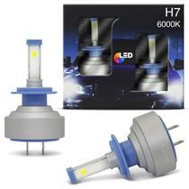 Par Lâmpadas Super LED 2D New Headlight Truck H7 6000K 24V e 36V 35W 6400LM Efeito Xênon Caminhão - Shocklight