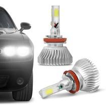 Par Lâmpadas Super LED 3D Headlight H11 6000K 12V e 24V 50W 9000LM Efeito Xênon Carro Moto Caminhão - Shocklight