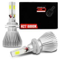 Par Lâmpadas Super LED 3D Headlight H27 6000K 12V 40W 9000LM Efeito Xênon Carro Moto - Shocklight