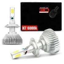 Par Lâmpadas Super LED 3D Headlight H7 6000K 12V 24V 50W 9000LM Efeito Xênon - Shocklight