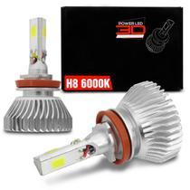 Par Lâmpadas Super LED 3D Headlight H8 6000K 12V e 24V 50W 4500LM Efeito Xênon Carro Moto e Caminhão - Shocklight