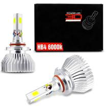 Par Lâmpadas Super LED 3D Headlight HB4 6000K 12V 24V 9000LM Efeito Xênon Carro Moto Caminhão - Shocklight