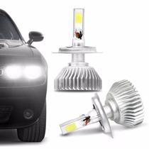 Par Lâmpadas Super LED H4 6000K 4500LM Shocklight Headlight 3D Com Fonte Efeito Xênon Carro Moto -