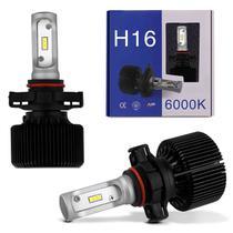 Par Lâmpadas Ultra LED S11 H16 6000K 12V 35W 8000LM Luz Branca Efeito Xênon Carro e Moto - Shocklight