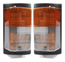 Par Lanterna Dianteira Scania 112 113 143 Pisca Seta Bicolor - PRADOLUX