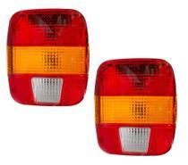 Par Lanterna Traseira Caminhão Ford VW Troller Marmita - Edn