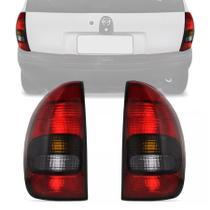 Par Lanterna Traseira Corsa Hatch 4 Portas Pick-Up Wagon 1996 A 1999 Fume - CODISA