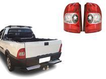 Par Lanterna Traseira Fiat Strada 2001 2002 2003 2004 2005 2006 - KIT
