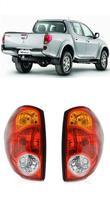 Par Lanterna Traseira L200 Triton 2007 2008 2009 2010 2011 2012 2013 2014 2015 - Mitsubishi