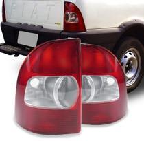 Par Lanterna Traseira Pick Up Strada 2001 A 2006 Rubi - Jcv
