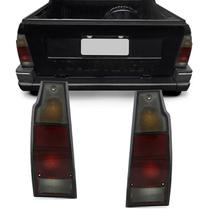 Par Lanterna Traseira Saveiro G1 1983 a 1997 Parati G1 1983 a 1995 Tricolor Fumê - Kit Prime