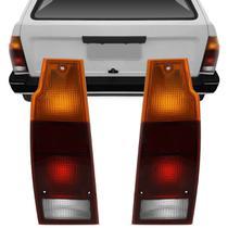Par Lanterna Traseira Saveiro G1 1983 a 1997 Parati G1 1983 a 1995 Tricolor - Kit Prime