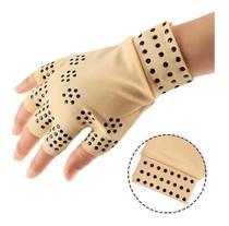 Par Luvas Sem Dedos Artrite Alívio Dor Terapia Magnética - Bellarosa