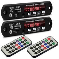 Par Placas de Amplificador Módulo BT-373 Bluetooth USB SD P2 Rádio FM MP3 80W RMS Controle Remoto - Prime