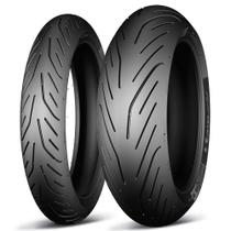 Par Pneu 180-55-17 e 120-70-17 Pilot Power 3 - Michelin