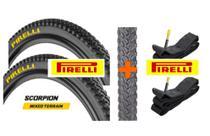 Par pneu 29x2.00 pto scorpion mb2 cravo + 2 camaras pe29 pirelli -