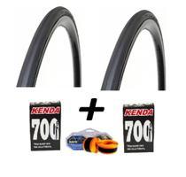 Par Pneu Bike Pirelli Corsa Speed 700x23 E 2Camaras e Fita -