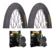 Par Pneu Bike Pirelli Tornado Flame Aro 26x2.125 e 2 Camaras -