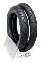 Par pneu biz traseiro 80 100 14 dianteiro 60 100 17 c100 biz 100 125 sem câmara levorin  0465 -