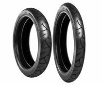 Par pneu biz traseiro 80 100 14 dianteiro 60 100 17 novo sem câmara levorin  0465 -