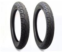 Par pneu cg 125 150 160 dianteiro 2 75 18 traseiro 90 90 18 azonic sem câmara levorin 0333 -