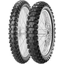 Par Pneu Crf 100/100-18 + 80/100-21 Scorpion Mx Extra X Pirelli - Pirelli Moto