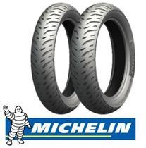 Par Pneu Michelin 80/100-18 100/90-18 Cg Titan 150 Pilot Street 2 Sem Câmara -