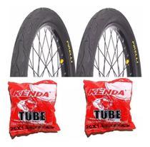 Par Pneu Pirelli 26x2.1 Tornado Beta Flame Bike e 2 Câmaras 26 -