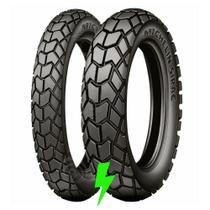 Par Pneu Sirac Michelin 90/90-21 E 120/80-18 -