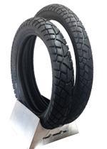 Par pneu tornado dianteiro 90 90 21 traseiro 120 80 18 xr 250 xre 300 xtz 250 lander levorin 0461 -