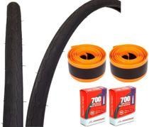 Par Pneus Speed Pirelli Tornado Alfa 700X25 + Par Câmaras Chaoyang + Par Fita Anti Furo -