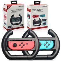 Par Volante Nintendo Switch Controle Joy-con Grip Dobe Preto -