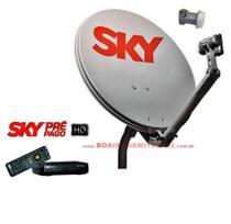 Parabólica e Receptor Sky Pré Pago Flex Hd -