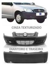 Parachoque Dianteiro Traseiro Celta 07 - 2011 Cinza Texturizado - Chevrolet