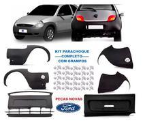 Parachoque Dianteiro Traseiro Ford Ka 1997 98 99 00 01 2002 Kit 6 Peças - Dts
