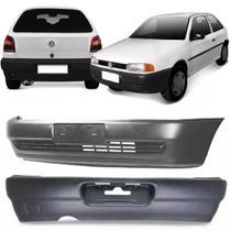 Parachoque Dianteiro Traseiro Gol Bola G2 1995 A 2001 Preto Texturizado - Volkswagen