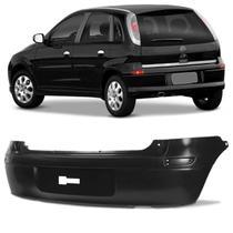 Parachoque Traseiro Corsa Hatch 2003 a 2012 Preto Liso com Furo para Aplique Refletor - Dts