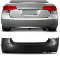 Parachoque Traseiro New Civic 2006 2007 2008 2009 2010 2011 Preto Liso - Dts