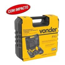 Parafusadeira e Furadeira de Impacto 12v c/ 17 peças Vonder - PFV012I -