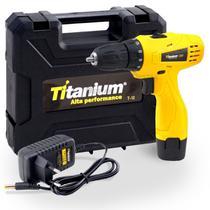 Parafusadeira Furadeira Bateria 3/8 Pol. 12v Bivolt Titanium -