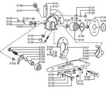 Parafuso com Porca p/ - Vídea / Lâmina Inferior para máquina de corte Disco RC100 - S-176 - Milamak