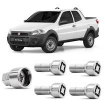 Parafusos Antifurto Roda Segredo Trava Proteção Fiat Strada - Rodafuso