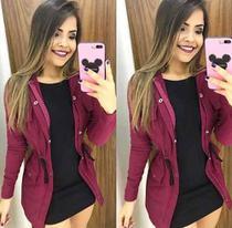 Parka Feminina Jaqueta Casaco Sobretudo - Rsl
