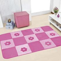 Passadeira Infantil Premium Margaridas Pink 1,20m x 74cm - Dourados enxovais